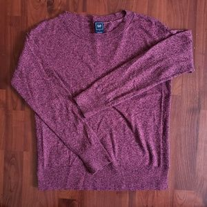 Gap pink/purple crew neck sweater